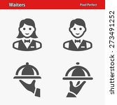 waiters icons. professional ... | Shutterstock .eps vector #273491252