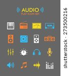 vector flat icon set   audio