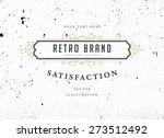 vintage frame for luxury logos  ... | Shutterstock .eps vector #273512492