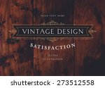 vintage frame for luxury logos  ... | Shutterstock .eps vector #273512558