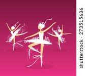 set of dynamic doodle ballet... | Shutterstock .eps vector #273515636