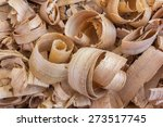 Pile Of Many Wood Chips