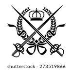 black and white heraldic design ... | Shutterstock . vector #273519866