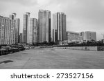 busan city  south korea black... | Shutterstock . vector #273527156