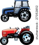 Постер, плакат: 2 tractors