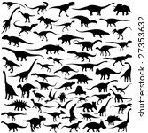 dinosaur vector collection | Shutterstock .eps vector #27353632