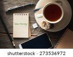 """good morning"" is written on... | Shutterstock . vector #273536972"