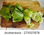 bok choy cut on the cutting...   Shutterstock . vector #273537878