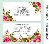 flower blossom. romantic... | Shutterstock .eps vector #273542468