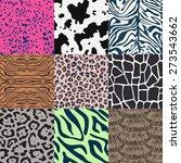 repeated wildlife animal skin... | Shutterstock .eps vector #273543662