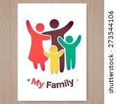 happy family icon multicolored... | Shutterstock .eps vector #273544106