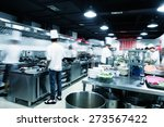 modern kitchen and busy chefs... | Shutterstock . vector #273567422