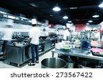 modern kitchen and busy chefs... | Shutterstock . vector #273567422