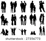 people silhouette's | Shutterstock .eps vector #27356773