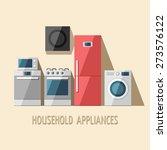 set of household appliances.... | Shutterstock .eps vector #273576122