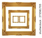 antique golden frame isolated... | Shutterstock . vector #273581705