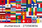 flag of europe states vector set | Shutterstock .eps vector #273583856