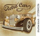 retro car. | Shutterstock . vector #273584156
