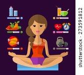 yoga vector logo design... | Shutterstock .eps vector #273591812