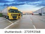 cargo truck at warehouse... | Shutterstock . vector #273592568