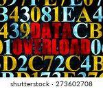 data concept  pixelated red...   Shutterstock . vector #273602708