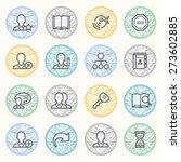 users flat contour icons on... | Shutterstock .eps vector #273602885