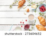 romantic french or rural... | Shutterstock . vector #273604652