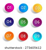 round number button vector... | Shutterstock .eps vector #273605612