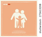 happy family icon in simple... | Shutterstock .eps vector #273613208