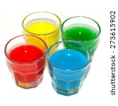colored glasses with primary... | Shutterstock . vector #273615902