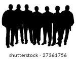 group of people  vector  | Shutterstock .eps vector #27361756