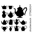 Teapots And Cups   Vector...