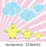 vector easter postcard | Shutterstock .eps vector #27364192