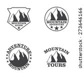 set of mountain explorer labels ... | Shutterstock .eps vector #273646166