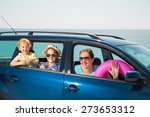 mother with two kids travel by... | Shutterstock . vector #273653312