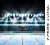 hockey stadium with spectators... | Shutterstock . vector #273654668