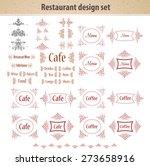 cafe sybmols | Shutterstock . vector #273658916