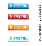 free trial buttons | Shutterstock .eps vector #273663896