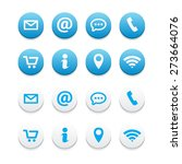 contact icons | Shutterstock .eps vector #273664076