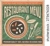 retro restaurant menu poster... | Shutterstock .eps vector #273676328