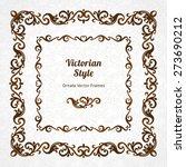 vector decorative frame in...   Shutterstock .eps vector #273690212