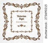 vector decorative frame in...   Shutterstock .eps vector #273690215