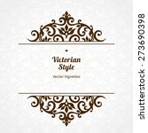 vector floral vignette in... | Shutterstock .eps vector #273690398