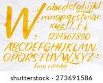 modern alphabet set drawn... | Shutterstock .eps vector #273691586