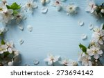art spring floral border... | Shutterstock . vector #273694142