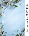 art spring floral border... | Shutterstock . vector #273694166