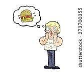 cartoon shocked man thinking...   Shutterstock .eps vector #273700355