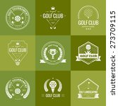 set of golf club logo templates.... | Shutterstock .eps vector #273709115
