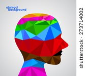 human head from 3d geometric... | Shutterstock .eps vector #273714002