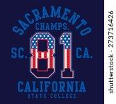 athletic sport sacramento... | Shutterstock .eps vector #273716426